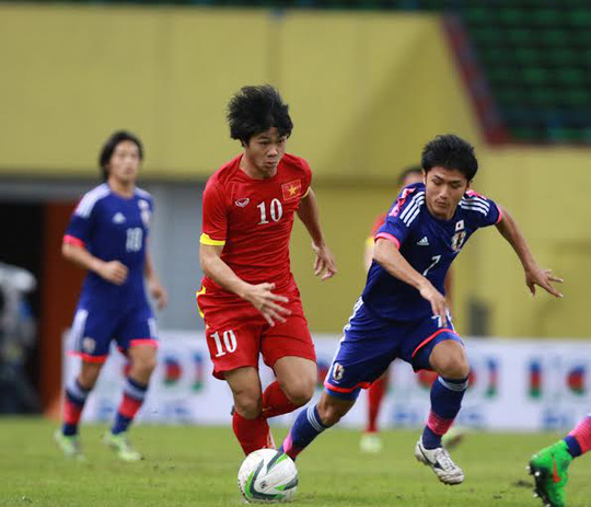 tiền đạo Công Phượng, một trong những người chơi xông xáo của Olympic Việt Nam