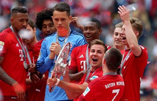 Gotze mùa này ghi 14 bàn cho Bayern Munich, giúp hùm xám vô địch Bundesliga