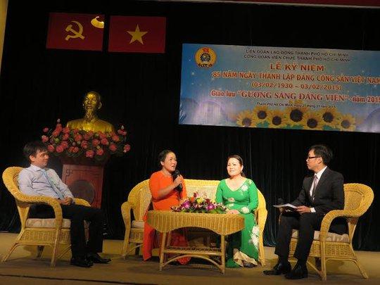 Các đảng viên xuất sắc của Công đoàn Viên chức TP HCM tại buổi giao lưu