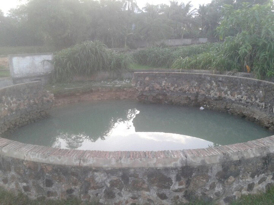 Giếng Thùng nơi em Tài bị đuối nước.