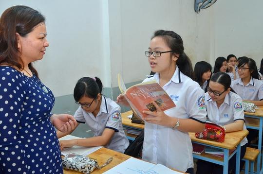 Giờ học môn ngữ văn của học sinh Trường THPT Bùi Thị Xuân, TP HCM. Ảnh: T. Thạnh/NLĐ