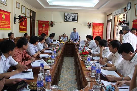 Ông Trần Thanh Hải, Phó Chủ tịchThường trực Tổng LĐLĐ Việt Nam làm việc với LĐLĐ Thanh Hóa. Ảnh: Anh Tuấn