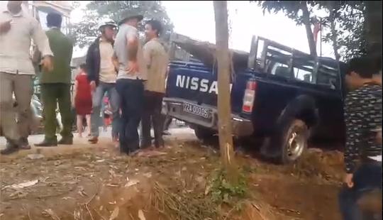 Hiện trường vụ tai nạn giao thông xe cảnh sát tông chết người - Ảnh cắt từ clip
