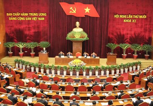 Hội nghị Trung ương lần thứ 10 Ban chấp chấp hành Trung ương Đảng khóa XII - Ảnh: TTXVN