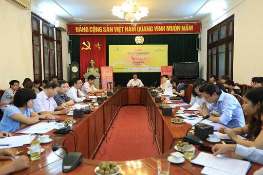 """Quang cảnh buổi họp báo về chương trình """"Vinh quang Việt Nam"""""""
