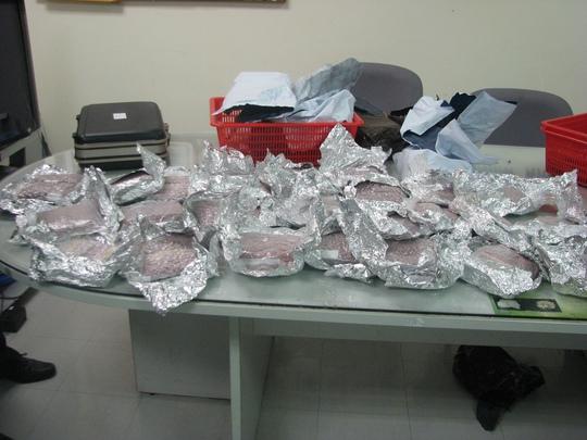 Số ma túy tổng hợp bị hải quan sân bay Tân Sân Nhất bắt giữ