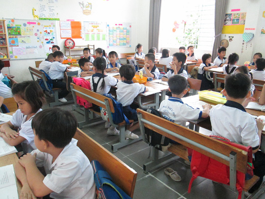 Học sinh Trường Tiểu học Tân Thông, huyện Củ Chi