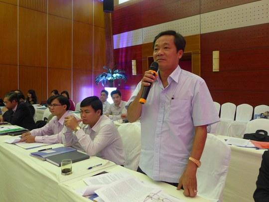 Phó Chánh án TAND TP HCM Huỳnh Ngọc Ánh phát biểu thảo luận
