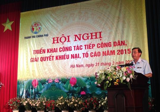 Ông Nguyễn Đức Hạnh, Phó tổng Thanh tra Chính phủ