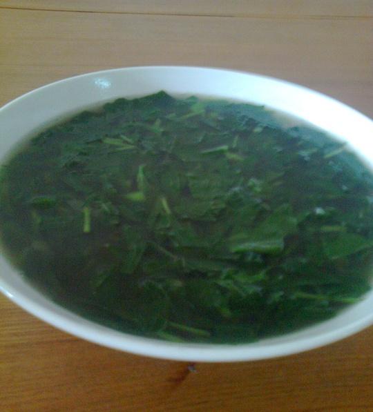 Món canh rau khoai nấu mắm tôm của mẹ tôi