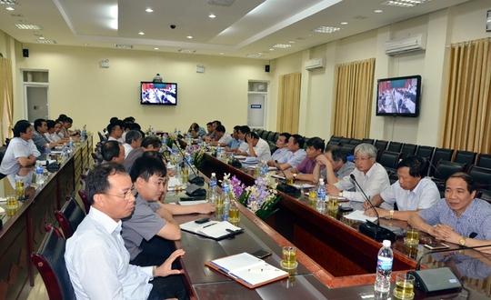 cuộc họp của TKV lo ứng phó, khắc phục hậu quả