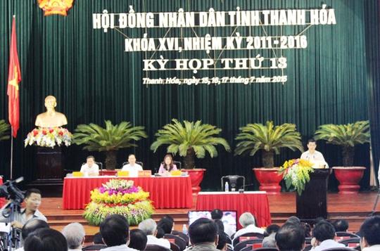 Quang cảnh kỳ họp thứ 13, HĐND tỉnh Thanh Hóa