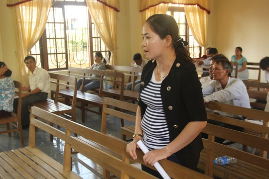 Chị Dương Thị Thu Thủy lo ngại các ngành chức năng huyện Thăng Bình bao che cho bị cáo Đạo
