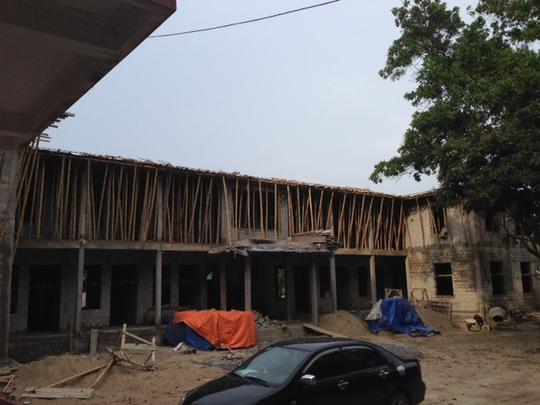 Trụ sở UBND xã Xuân Hòa bị đình chỉ để làm rõ trách nhiệm tập thể cá nhân vì xây dựng chui