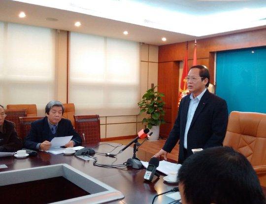Thứ trưởng Trương Minh Tuấn tại buổi công bố kết luận thanh tra