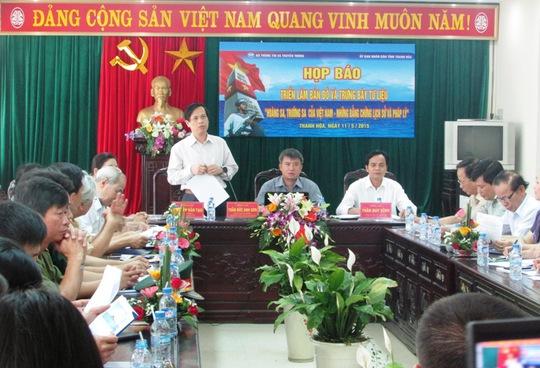 Bộ Thông tin và Truyền thông họp báo về triển lãm bản đồ và trưng bày tư liệu quý về chủ quyền 2 quần đảo Hoàng Sa và Trường Sa của Việt Nam