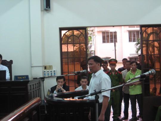 Bị cáo Ngô Văn Vinh tại phiên tòa sơ thẩm