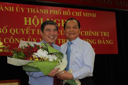 Bí thư Thành ủy TP HCM Lê Thanh Hải chào đón ông Nguyễn Thành Phong về TP HCM