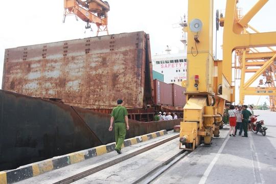 tàu hàng nơi xảy ra vụ tai nạn lao động