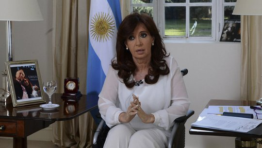 Argentinas President Cristina Fernandez unveiled her plan to replace her countrys intelligence service with a new agency. She delivered a televised speech while seated in a wheelchair in Buenos Aires.