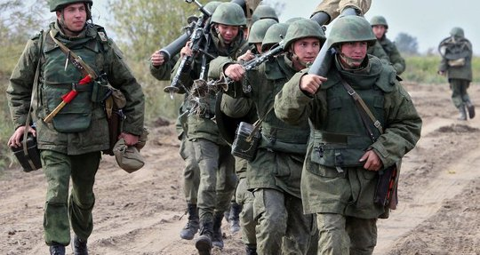 Russian military during drills of the Baltic Fleet in Kaliningrad Region