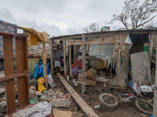 Residents in Mele village, on the outskirts of Port Vila