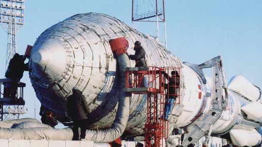 Russian Proton-M carrier rocket crashes in Siberia.