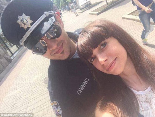 Happy: According to reports, the new cops have often left better paying jobs in order to join the police, driven instead by a genuine desire to make things better