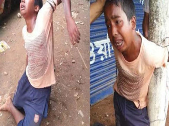 Rajan was mercilessly killed by a group of men for allegedly stealing a rickshaw van. PHOTO: COURTESY NEWS21BD