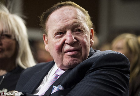 Adelson, pictured earlier this year, is being sued by a former head of his Macao casinos,Steven Jacobs