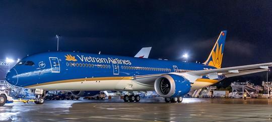 Máy bay Boeing 787-9 Dreamliner mang nhận diện thương hiệu mới của Vietnam Airlines