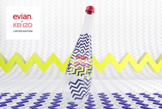 Evian kết hợp thương hiệu thời trang Kenzo ra mắt mẫu chai mới