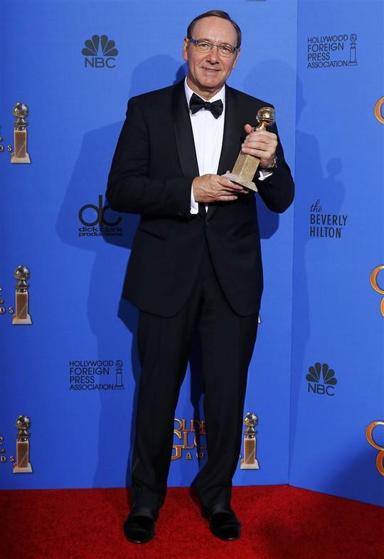 Nam diễn viên xuất sắc nhất thể loại chính kịch: Kevin Spacey – phim House of Cards. Ảnh: Reuters