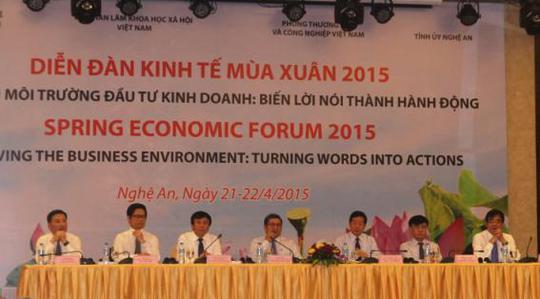 Diễn đàn Kinh tế Mùa xuân mới khai mạc sáng 21-4 tại Nghệ An