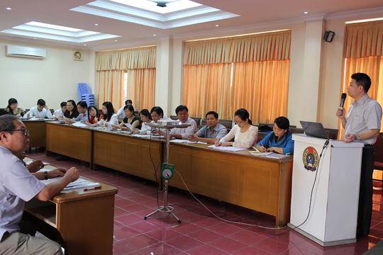 Các cán bộ Công đoàn tham gia Chương trình tập huấn kỹ năng phát triển đoàn viên theo phương pháp mới