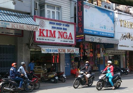 Doanh nghiệp tư nhân kinh doanh vàng Kim Nga ở đường Nguyễn Thị Tần, phường 3, quận 8 – TP HCM