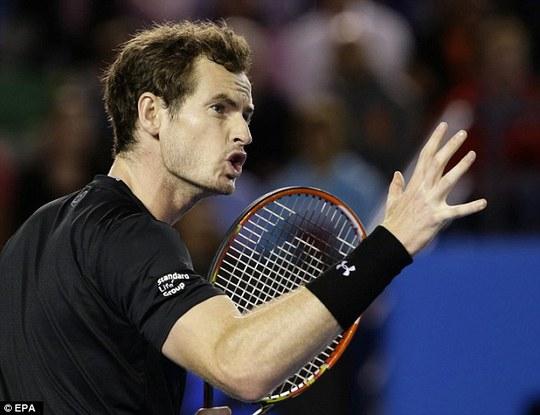 Murray lần thứ tư vào chung kết Gỉải Úc mở rộng. Ba lần trước anh đều thất bại