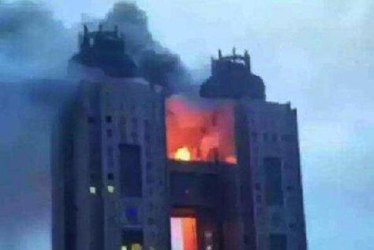 Vụ cháy tại khách sạn Koryo. Ảnh: Yonhap