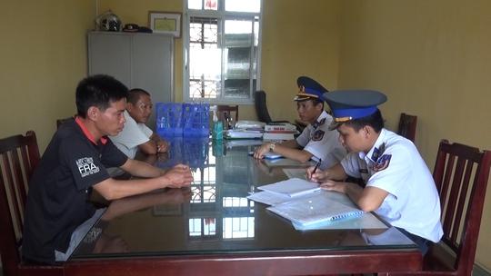 2 đối tượng khai nhận tại Vùng Cảnh sát biển 1