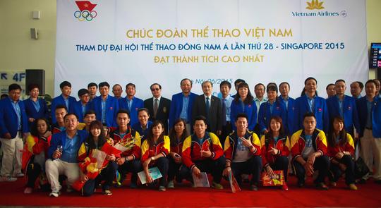Lễ tiễn Đoàn thể thao Việt Nam đi dự SEA Games 28