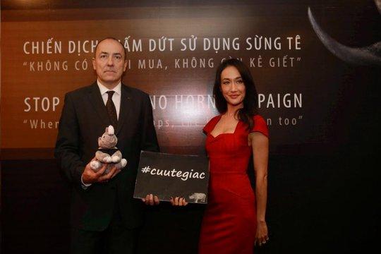 Maggie Q là đại sứ quốc tế của chiến dịch Chấm dứt sử dụng sừng tê giác do WildAid phát động