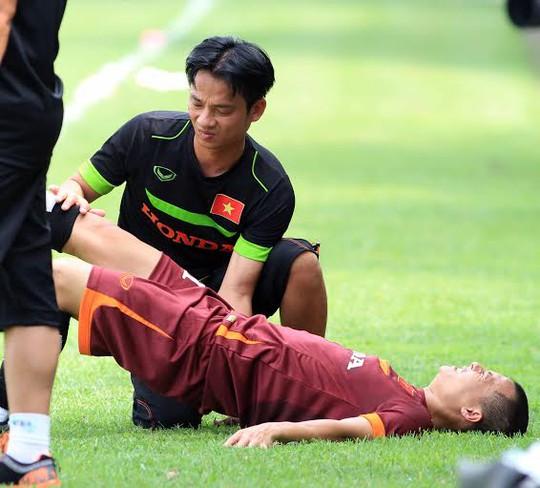 Thành Lương bị đau từ ngay ngày tập đầu tiên của đội