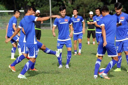 U23 Việt Nam chuẩn bị đấu với U23 Thái Lan