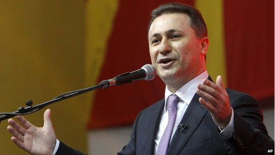 Thủ tướng Macedonia Nikola Gruevski đang đối mặt sức ép từ chức. Ảnh: AP