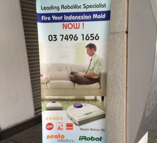 Mẩu quảng cáo gây tranh cãi. Ảnh: Malay Mail Online