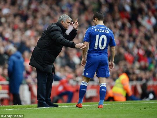 """HLV Mourinho và """"át chủ bài"""" Hazard"""