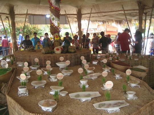 Mô hình các loại bánh dân gian Nam Bộ được trưng bày tại lễ hội