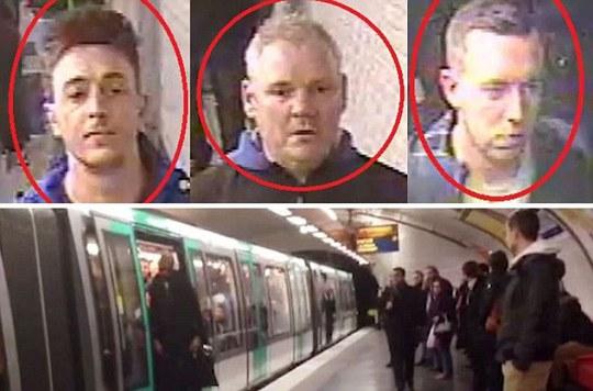 3 CĐV Chelsea và tàu điện ngầm ở Paris, nơi xảy ra vụ việc