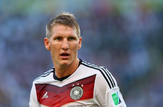 Schweisteiger trong màu áo tuyển Đức
