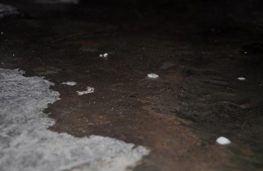 Mưa đá xuất hiện tại TP HCM vào ngày 13-6 Ảnh: Gia Minh